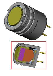 CAD drawing of ultrasonic downhole transducer