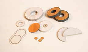 An assortment of piezoelectric ceramics materials